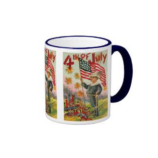4th of July ! Vintage Art Mug