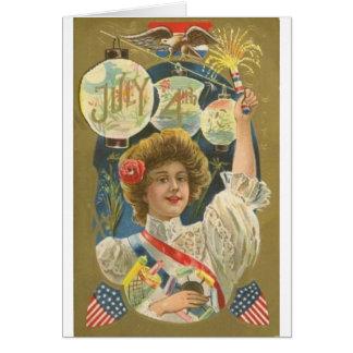 4th of July Vintage Greeting Card