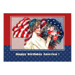 4th of July Vintage Patriotic Design Custom Cards 13 Cm X 18 Cm Invitation Card