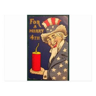4th of July Vintage Postcard