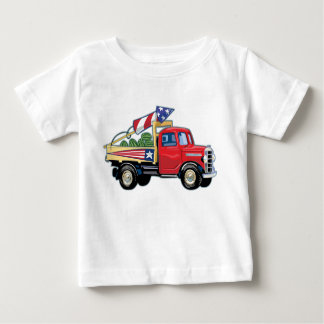 4th of July Vintage Truck Baby T-Shirt