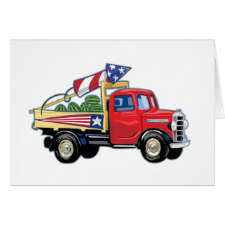4th of July Vintage Truck Greeting Card