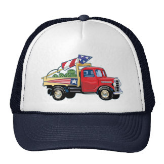 4th of July Vintage Truck Mesh Hats