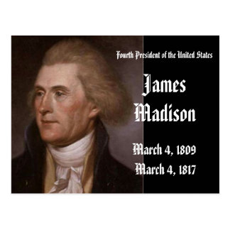 4th President Of the United States James Madison Postcard