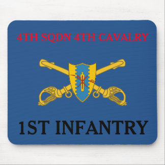 4TH SQUADRON 4TH CAVALRY 1ST INFANTRY MOUSEPAD