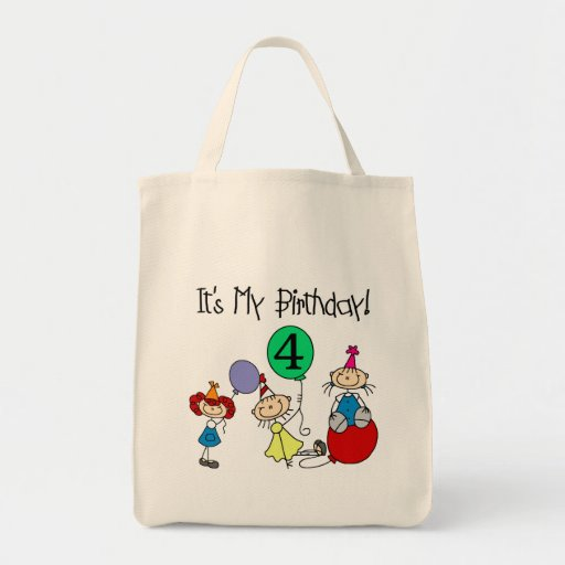 4th Stick Kids Party Birthday Tshirts and Gifts Bag