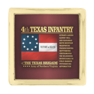 4th Texas Infantry (BA2) Gold Finish Lapel Pin