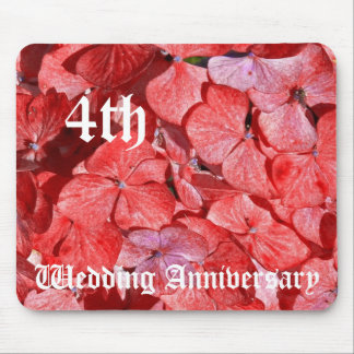 4th wedding anniversary - Hydranga Mouse Mat