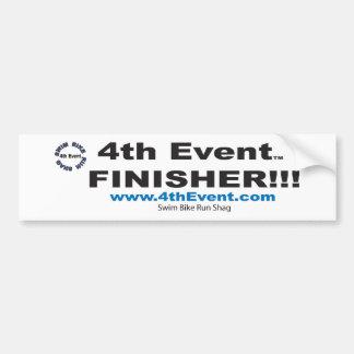 4thEvent.com Finisher!!! Bumper Sticker