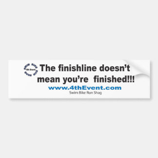 4thEvent.com Finishline sticker Bumper Sticker
