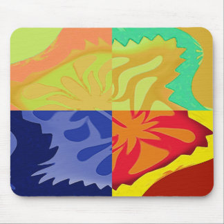 4way - a beautiful 4 squares abstract mouse pad