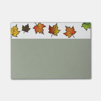 4x3 post it notes with autumn border post-it® notes