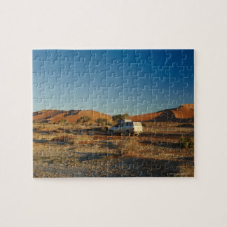 4x4 car in desert Landscape of Namib at Jigsaw Puzzle
