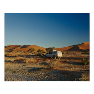 4x4 car in desert Landscape of Namib at Poster