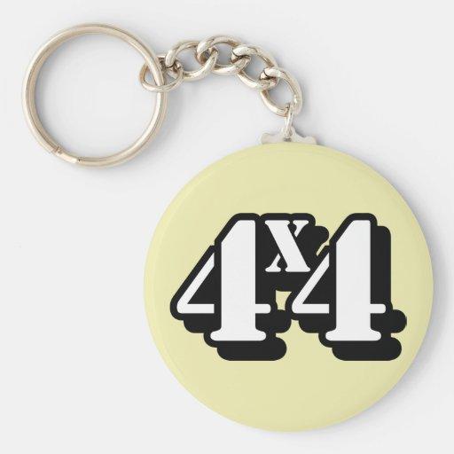 4x4 Four By Four ATV Four Wheel Drive Key Chains