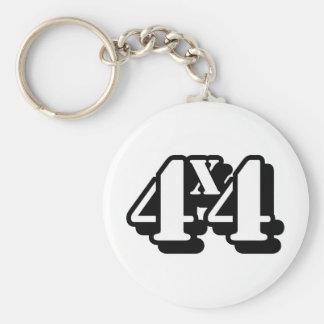 4x4 Four By Four ATV Four Wheel Drive Basic Round Button Key Ring
