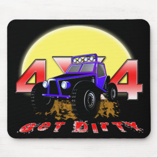 4x4 Get dirty as the sun comes up Mouse Pad