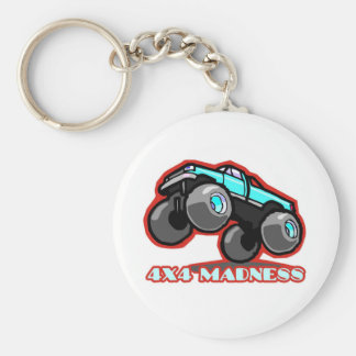 4x4 Madness: Jumping off-road Monster Truck Basic Round Button Key Ring