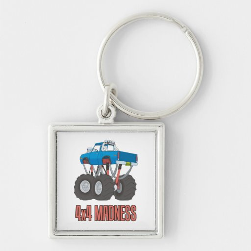 4x4 Madness: Off-road Monster Truck Keychain
