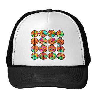 4x4 Psychedelic Peace Mesh Hat