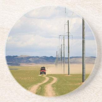 4X4 Vehicles On Dirt Road, Gobi Desert Coaster