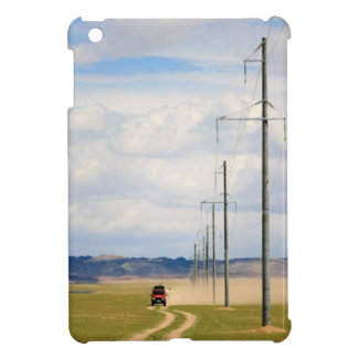 4X4 Vehicles On Dirt Road, Gobi Desert iPad Mini Covers