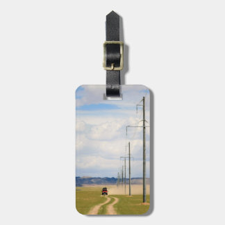 4X4 Vehicles On Dirt Road, Gobi Desert Luggage Tag