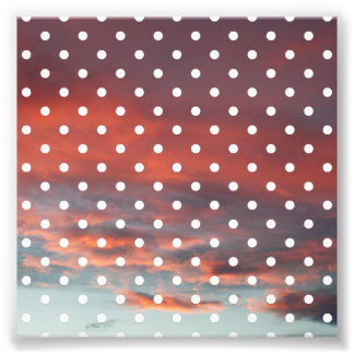 4x4 White Polka Dot Photo