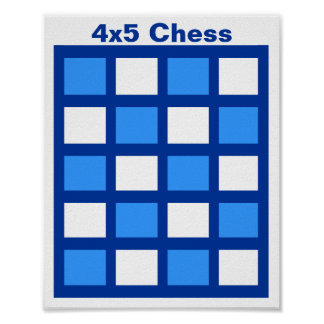 "4x5 - Chess TAG Grid (1-1/4"" fridge magnets) Poster"