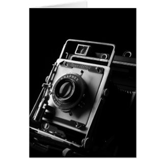 4x5 Crown Graphic Camera Greeting Card