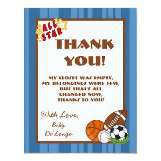 4x5 FLAT Thank you Card All-Star Blue 11 Cm X 14 Cm Invitation Card