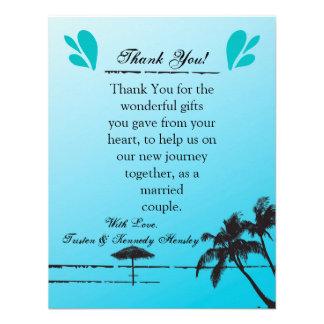 4x5 FLAT Thank You Card Beachy Palm Tree