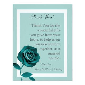 4x5 FLAT Thank You Card Blue Rose 11 Cm X 14 Cm Invitation Card