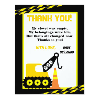4x5 FLAT Thank you Card Construction 11 Cm X 14 Cm Invitation Card