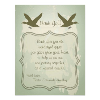 4x5 FLAT Thank You Card Country Duck Hunting