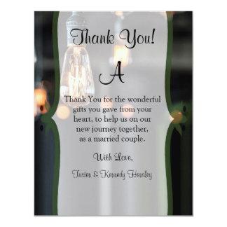4x5 FLAT Thank You Card Country Light Bulbs 11 Cm X 14 Cm Invitation Card