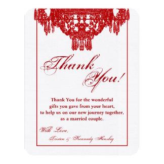 4x5 FLAT Thank You Card Crystal Chandelier Glitz 11 Cm X 14 Cm Invitation Card