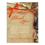 4x5 FLAT Thank You Card Hunters Camoflouge Camo Custom Announcement