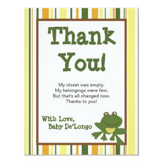 4x5 FLAT Thank You Card Jungle Babies 11 Cm X 14 Cm Invitation Card