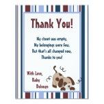4x5 FLAT Thank You Card Lil League Puppy Dog 11 Cm X 14 Cm Invitation Card