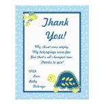 4x5 FLAT Thank You Card Turtle Reef Ocean Sea Invitation