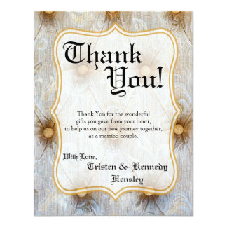 4x5 FLAT Thank You Card Vintage Pintuck Fabric Tay 11 Cm X 14 Cm Invitation Card
