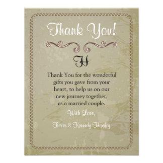 4x5 FLAT Thank You Card Vintage Vinyard