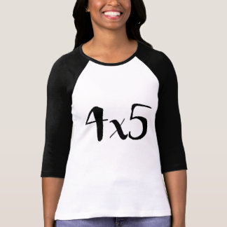 4x5 Large Format Photography Baseball Tee