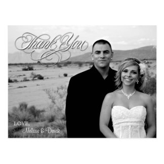 4x5 Typography Thank You Photo Portrait Post Card