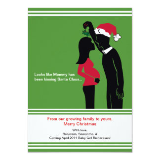 4x6 Christmas Pregnancy Announcements Cards- Mommy
