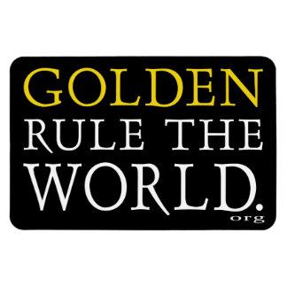 4x6 Magnet Original Golden Rule The World