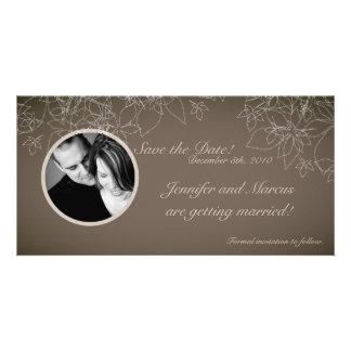 4x8 Engagement Announcement Autumn Floral Fall Photo Card
