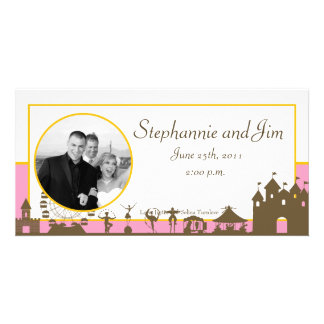 4x8 Engagement Photo Announcement Carnival Photo Card Template