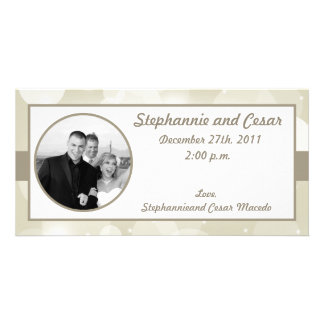 4x8 Engagement Photo Announcement Christmas Stars Customized Photo Card